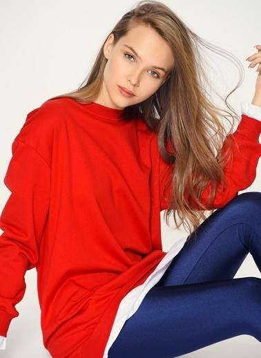 Loves You T-Shirt Garnili Sweatshirt Kırmızı